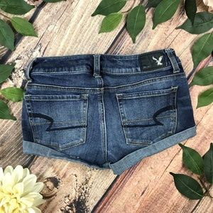 American Eagle Size 00 Dark Shortie Rolled Shorts